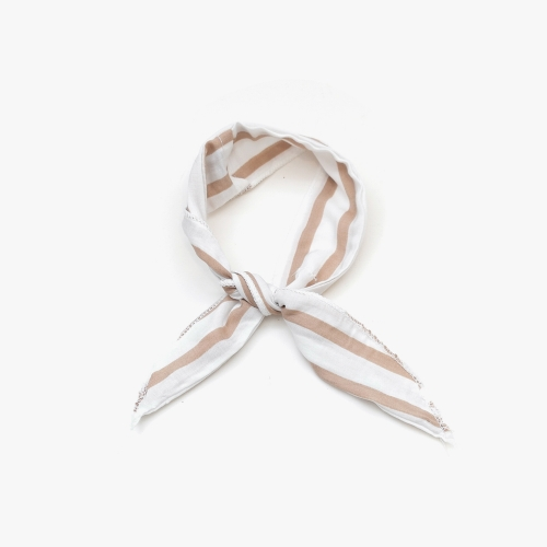 Wire Cooling Scarf (Bold Stripe Brown)