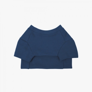 Cotton T-Shirt Indigo Blue
