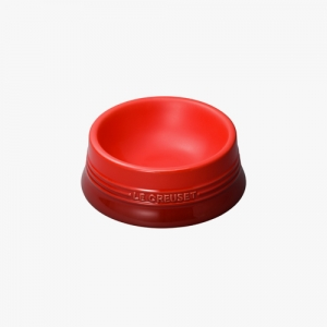 LE CRUESET DOG BOWL Red