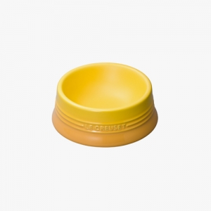 LE CRUESET DOG BOWL Yellow