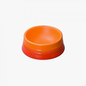 LE CRUESET DOG BOWL Orange