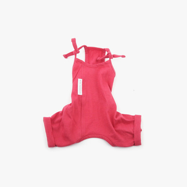 White Label Cotton Jumpsuit (Coral Red)