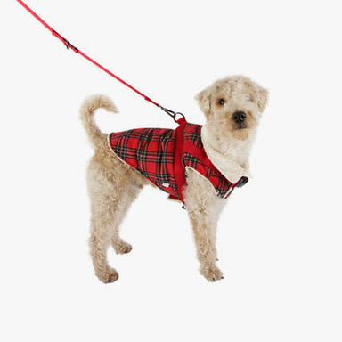 Harness Padding Vest (Red Check)