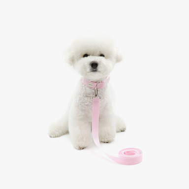 Neck Collar + Lead (Baby Pink)