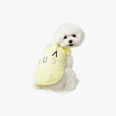 피타 Needlepoint Sleeveless 'AVEC VOUS' (Lemon)