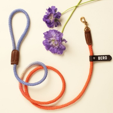 웁시데이지 Two tone Smart Leash (Orange purple lily)