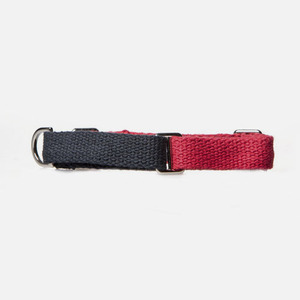 Color Block Collar (Navy-Red)